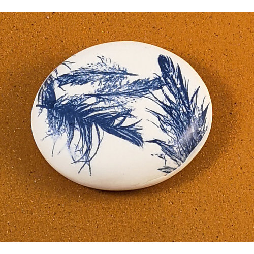 Clare Mahoney Smooth Porcelain double sided touchstone Large 072