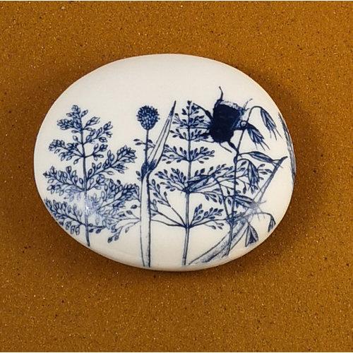 Clare Mahoney Doppelseitiger Prüfstein aus glattem Porzellan Large 073