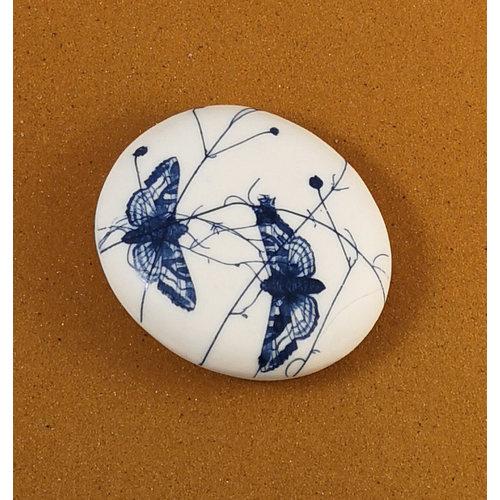 Clare Mahoney Doppelseitiger Prüfstein aus glattem Porzellan Large 074
