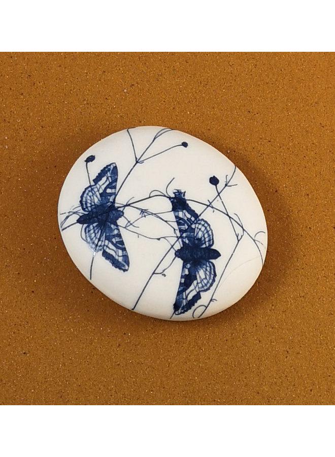 Doppelseitiger Prüfstein aus glattem Porzellan Large 074
