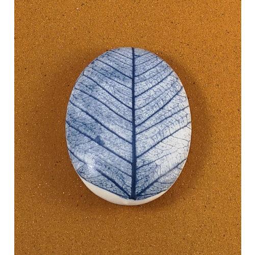 Clare Mahoney Beidseitiger Prüfstein 077 aus glattem ovalem Porzellan