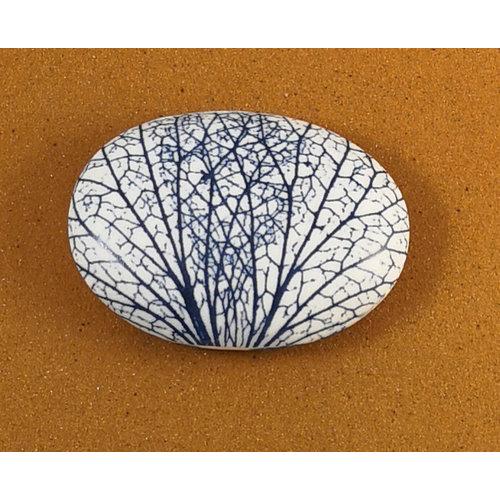 Clare Mahoney Beidseitiger Prüfstein 078 aus glattem ovalem Porzellan