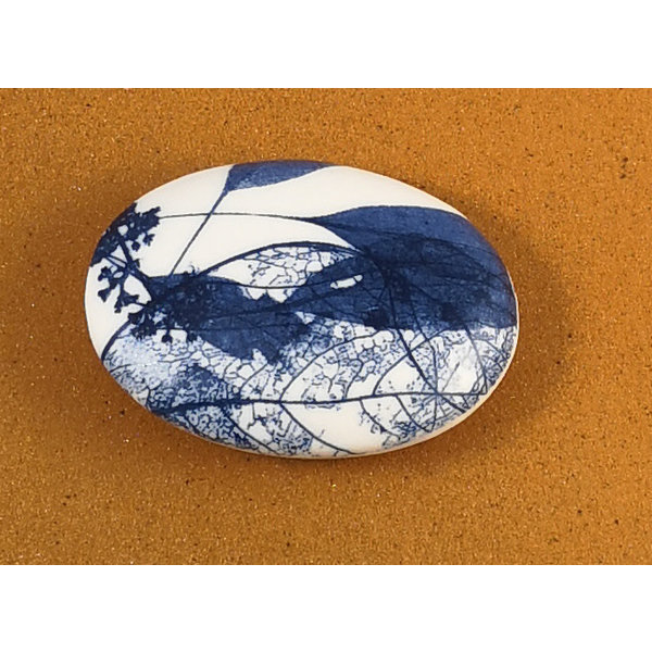 Smooth Oval Porcelain double sided touchstone  079