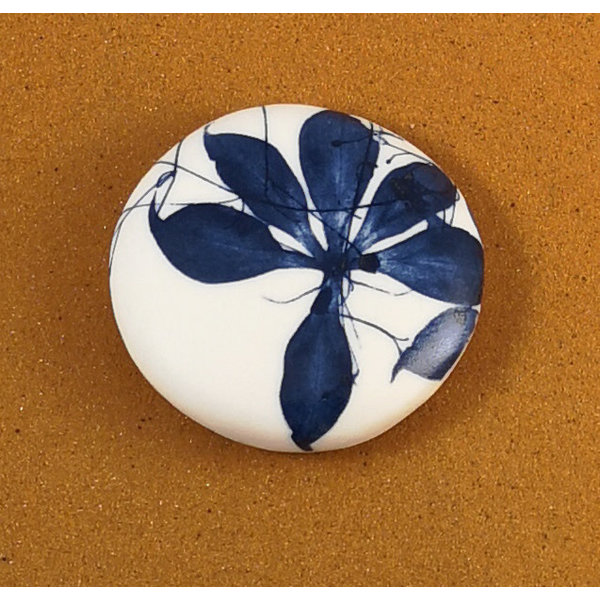 Smooth Medium Round Porcelain double sided touchstone  082