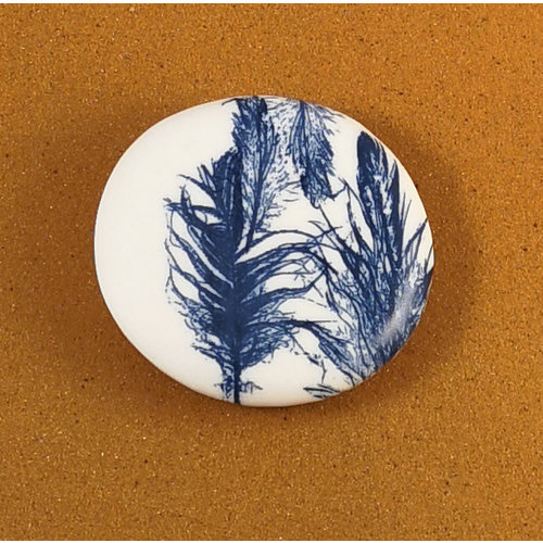 Clare Mahoney Smooth Medium Round Porcelain double sided touchstone  083