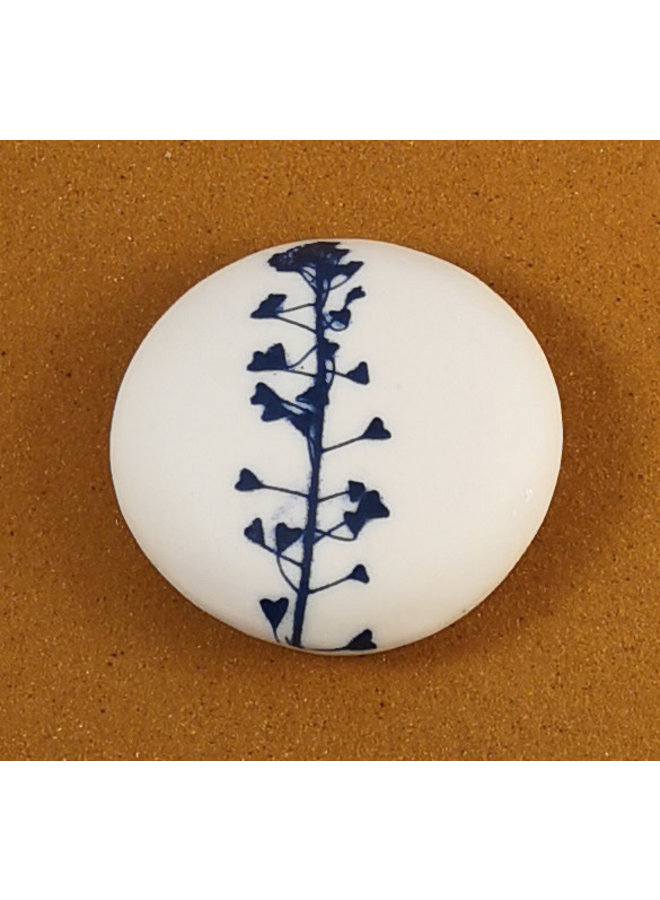 Smooth Medium Round Porcelain double sided touchstone  084