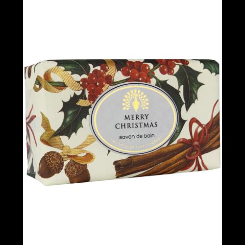 English Soap Company Feliz Navidad Robin y Holly Vintage Wrap Soap 03