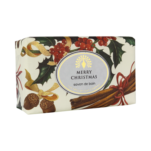 English Soap Company Merry Christmas Robin and Holly Vintage Wrap Soap 03