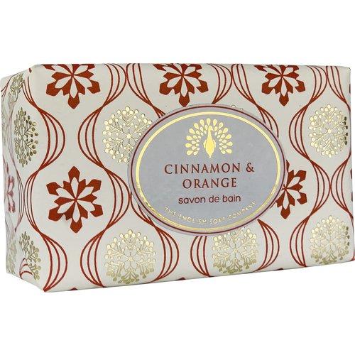English Soap Company Jabón de envoltura vintage de canela y naranja 06