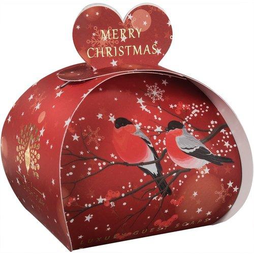 English Soap Company Feliz Navidad Bulfinches Guest Soap 07