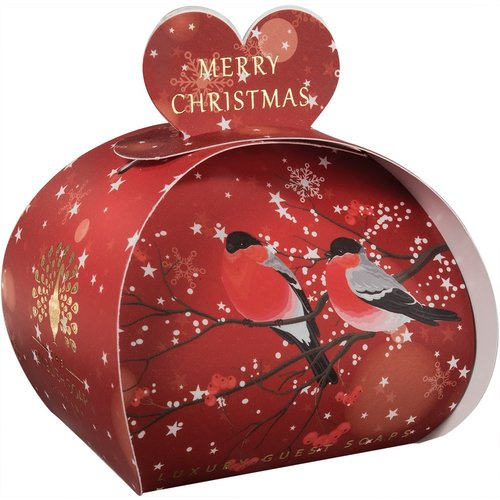 English Soap Company Merry Christmas Bulfinches Guest Soap 07