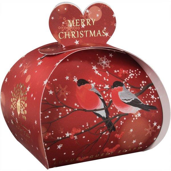 Frohe Weihnachten Bulfinches Guest Soap 07