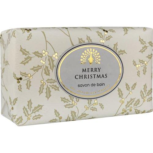 English Soap Company Feliz Navidad Holly Vintage Wrap Jabón 05