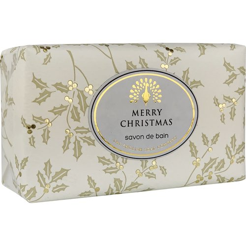 English Soap Company Merry Christmas Holly Vintage Wrap Soap 05