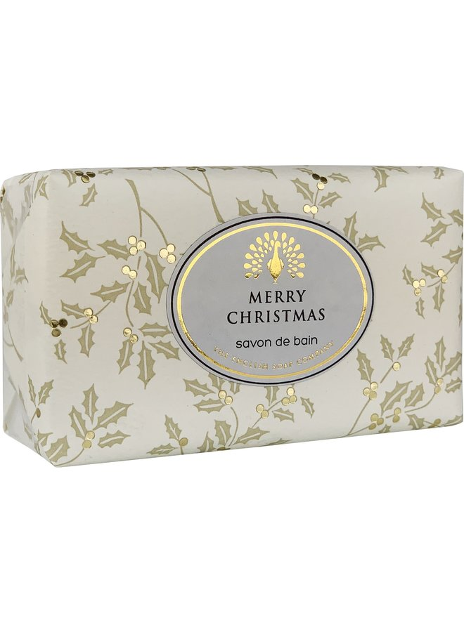 Frohe Weihnachten Holly Vintage Wrap Soap 05
