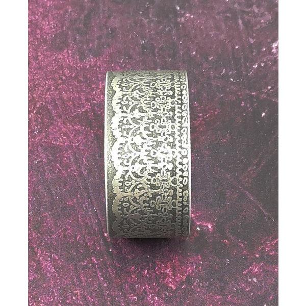 Armreif Manschette Lace Frilly dunklem Metall 72