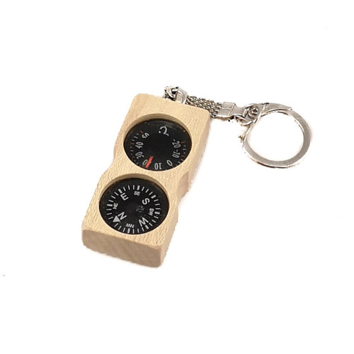 Ullapool Box Creations Compass Thermometer Holly Key Ring
