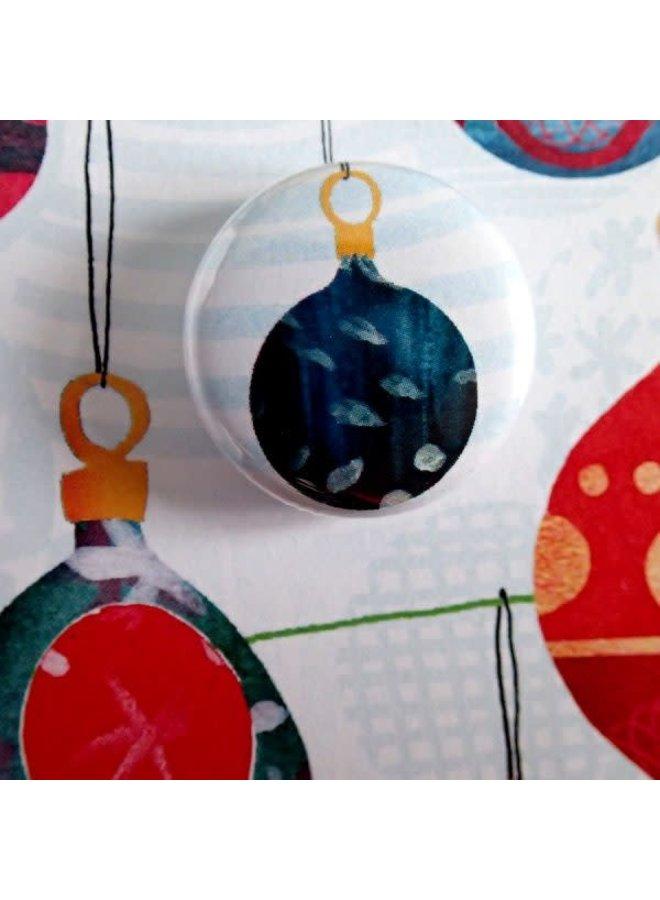 Weihnachtskugel-Abzeichen-Karte