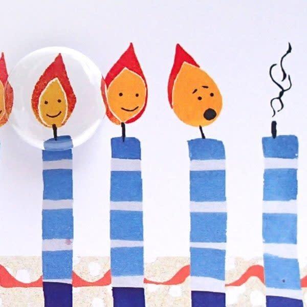 Birthday Candles  Badge Card