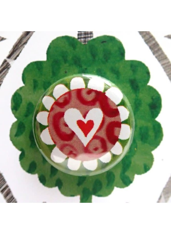 Heart Collage  Badge Card