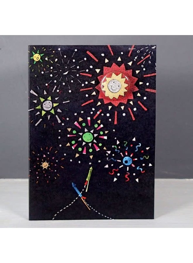 Fireworks  Badge Card