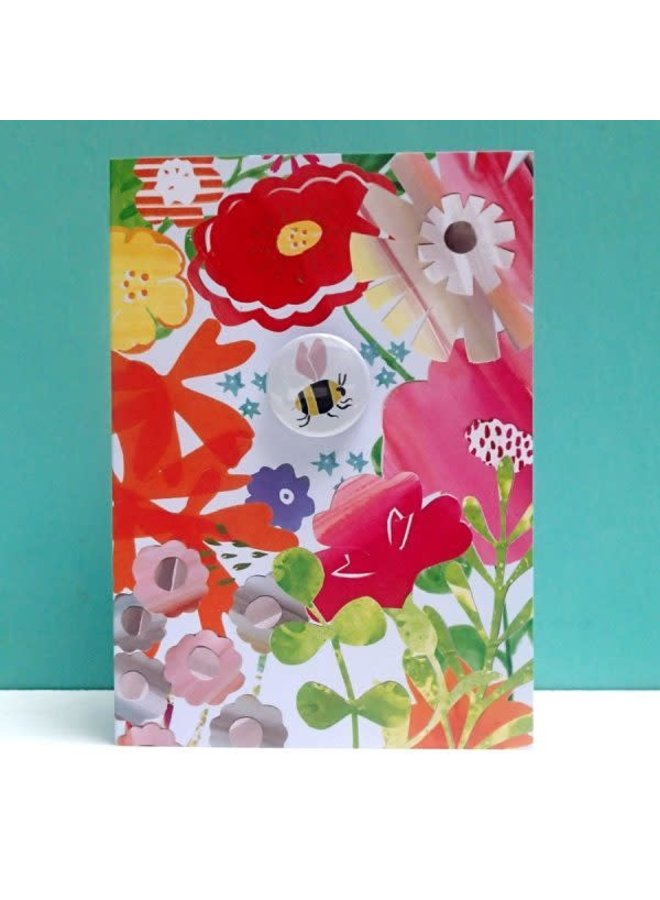 Bee Floral  Badge Card