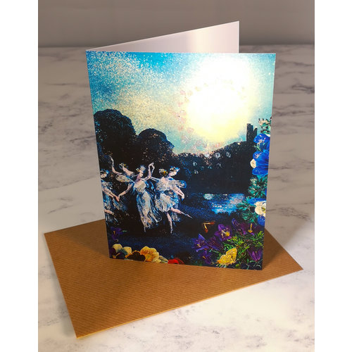 Diana Wilson By Moonlight  Vintage Glitter Card 70