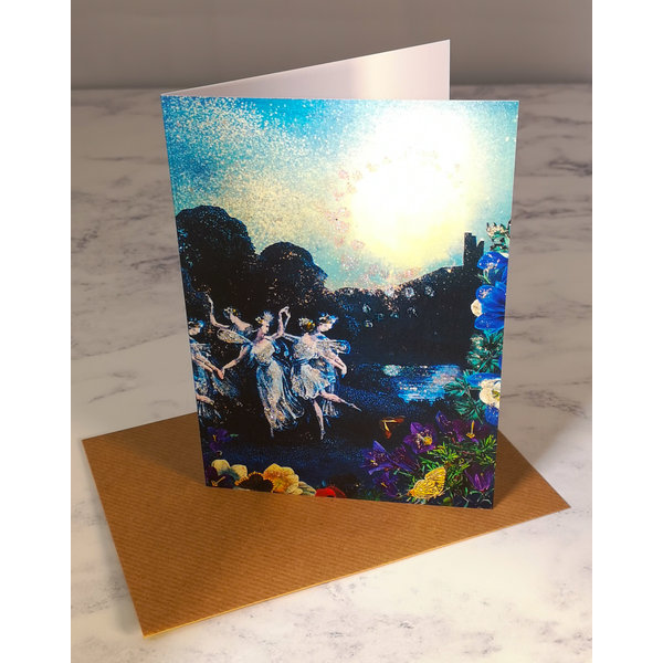 By Moonlight  Vintage Glitter Card 70