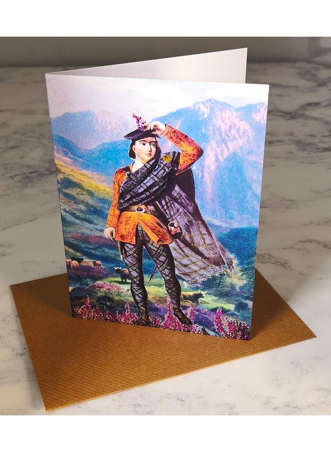 Heather  Vintage Glitter Card 77