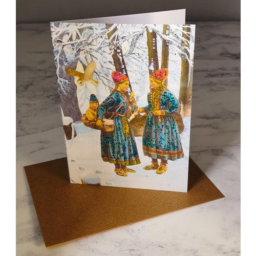 Diana Wilson Laplanders Vintage Glitter Card 65