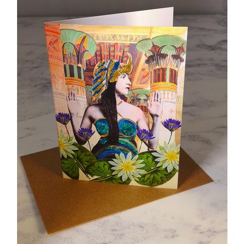 Diana Wilson Lotus Vintage Glitter Card 73
