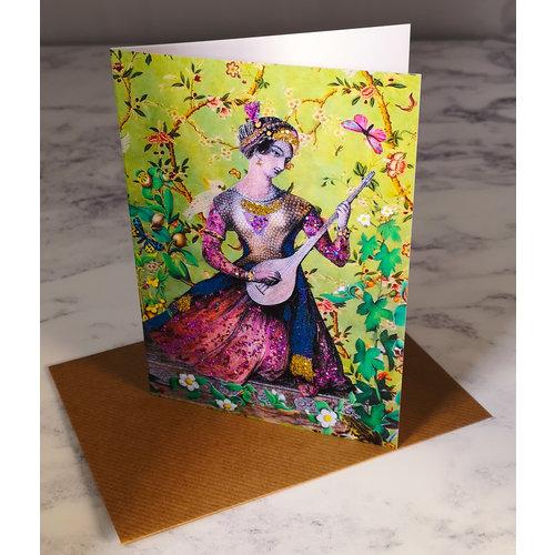 Diana Wilson Theodora Vintage Glitter Card 74
