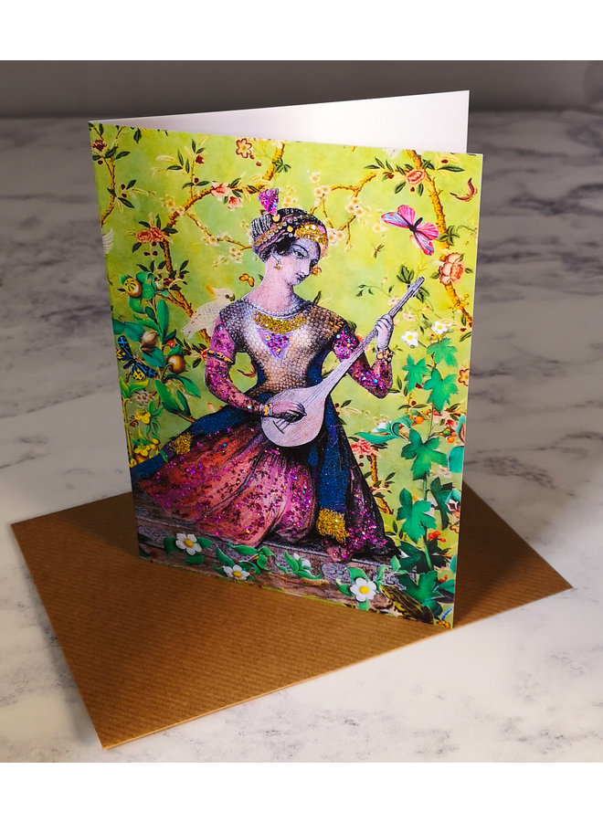 Theodora Vintage Glitter Card 74