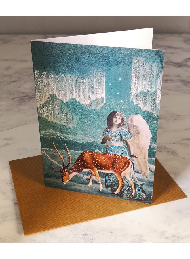 Iceland Vintage Glitter Card