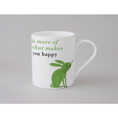 Repeat Repeat Happiness Rabbit Small Mug Green 137