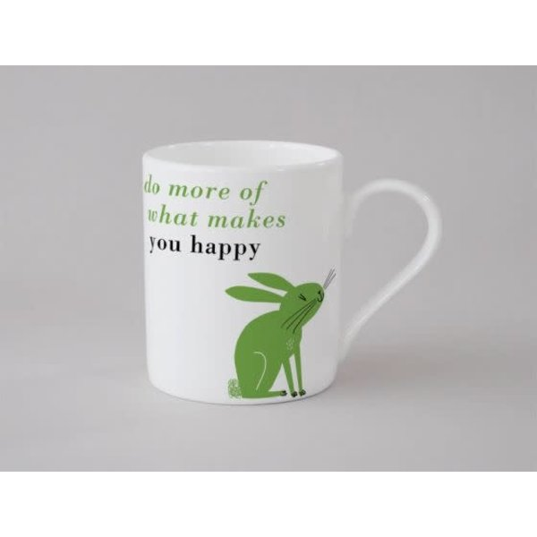 Happiness Rabbit Small Mug Green 137