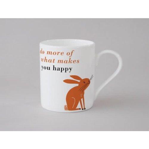 Repeat Repeat Happiness Rabbit Small Mug Orange138