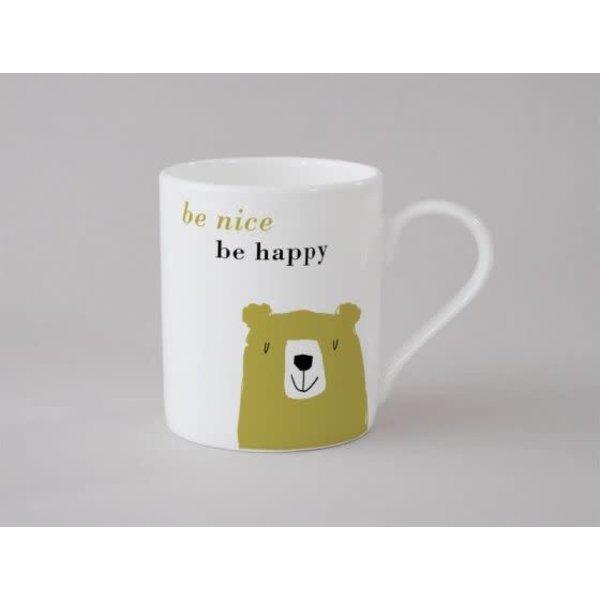 Happiness Bear Small Mug Olive 139