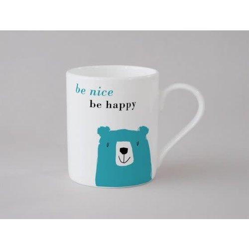 Repeat Repeat Felicidad Oso Taza Pequeña Azul 140