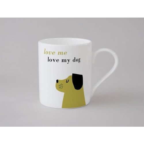Repeat Repeat Happiness Dog Small Mug Olive 142
