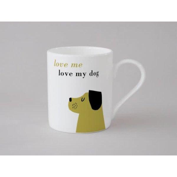 Happiness Dog Small Mug Olive 142