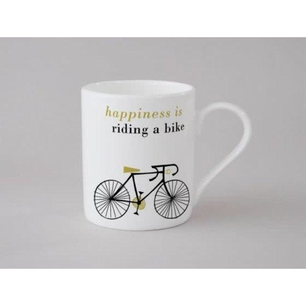 Happiness Bike Small Mug Olive 143
