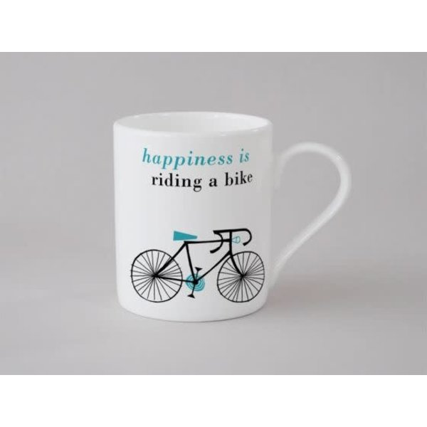 Happiness Bike Small Mug Blue 144