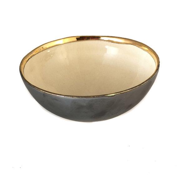 Cuenco Star Platinum, crema y oro 016