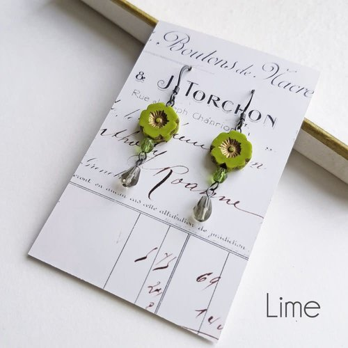 Judith Brown Bohemia Lime drop earrings 30