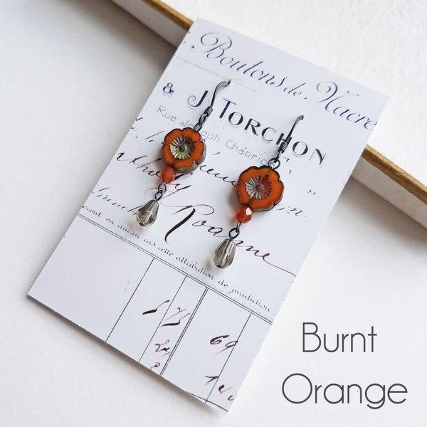 Pendientes largos Bohemia Burnt Orange 31