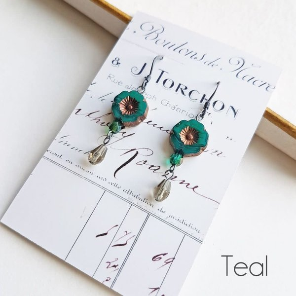 Bohemia Teal drop earrings 32