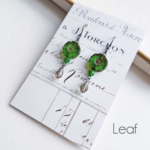 Judith Brown Bohemia Leaf drop earrings 33