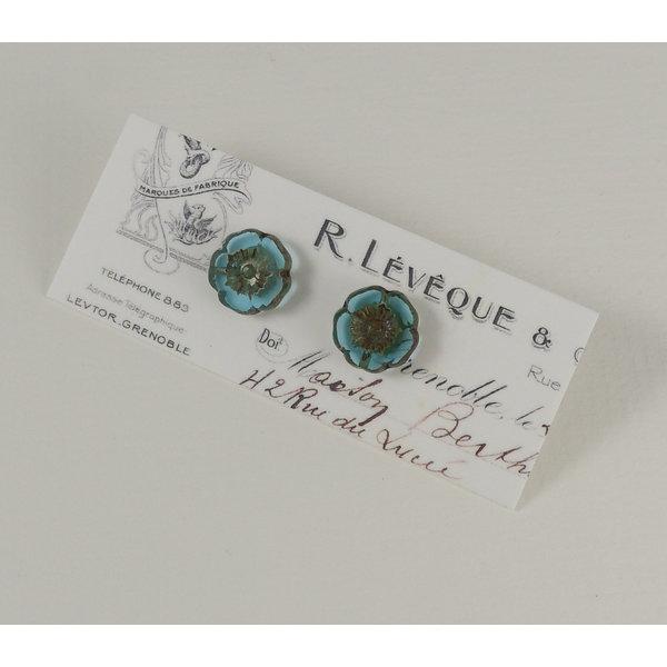 Bohemia turquoise  stud earrings 25