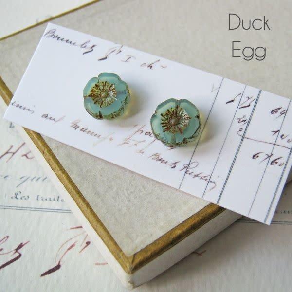 Bohemia Duck Egg  stud earrings 27